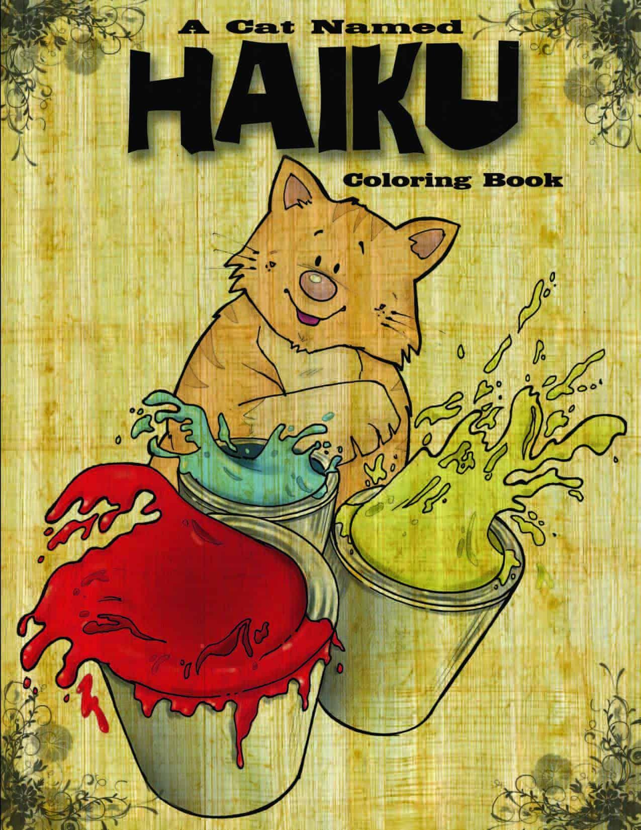 A Cat Named Haiku Coloring Book 1