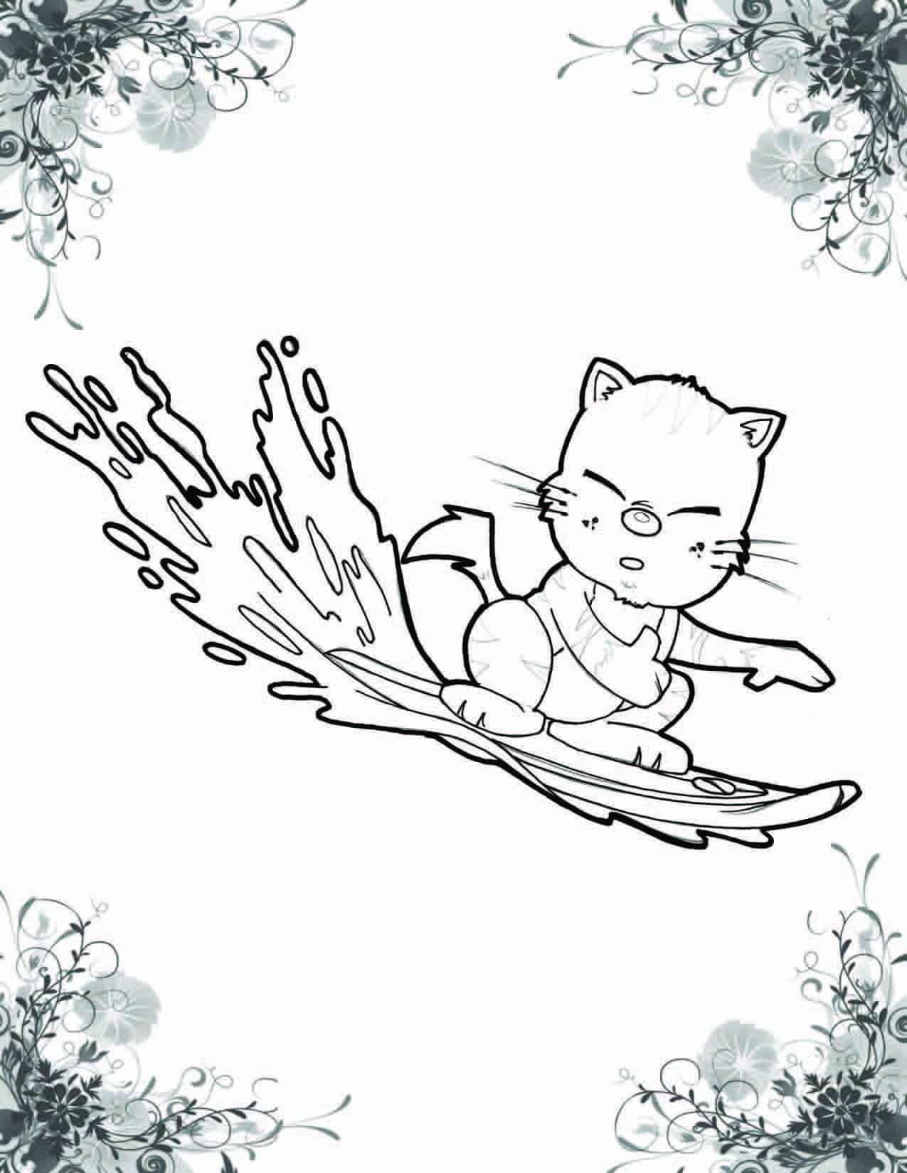 A Cat Named Haiku Coloring Book 7